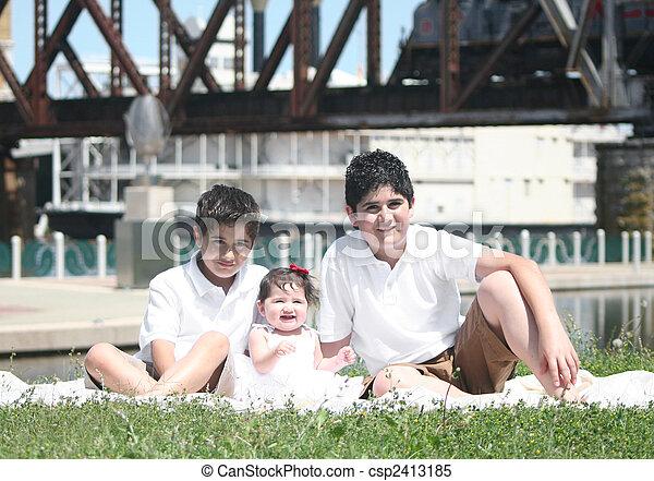 Young Hispanic Family - csp2413185