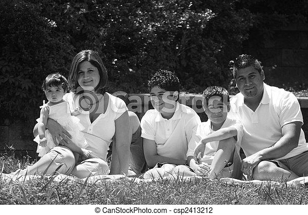 Young Hispanic Family - csp2413212