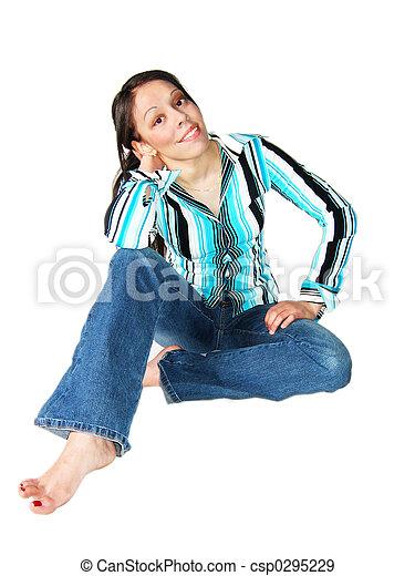 Young Hispanic Woman - csp0295229