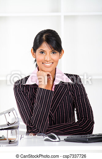 young indian businesswoman - csp7337726