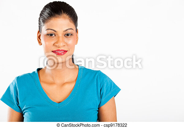 young Indian woman portrait  - csp9178322