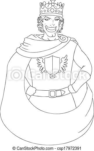 young king with crown coloring page csp17972391