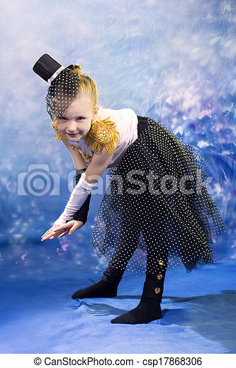 young little girl in dance costume - csp17868306
