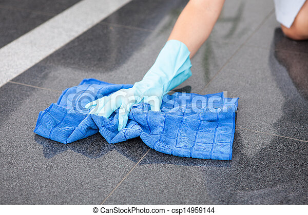 Young Maid Cleaning The Floor - csp14959144