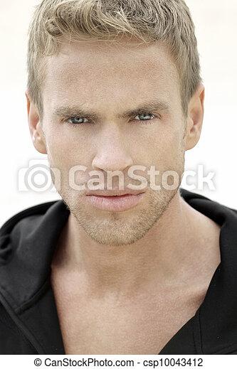 Young man face - csp10043412