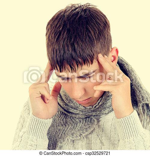 Young Man feel Headache - csp32529721