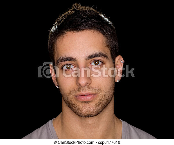 Young Man Headshot - csp8477610