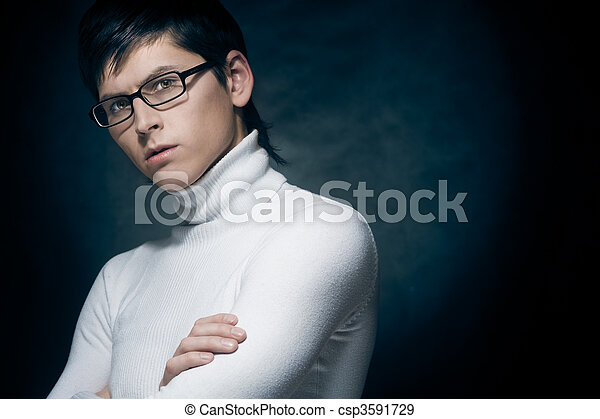 Young man in glasses - csp3591729