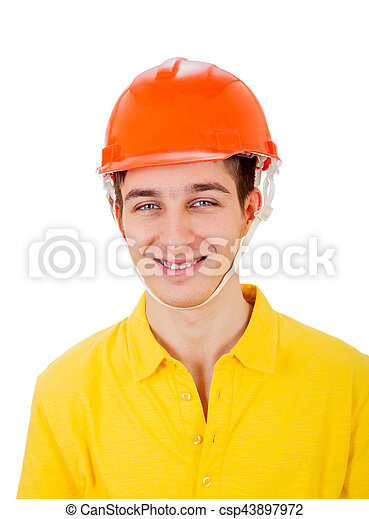 Young Man in Hard Hat - csp43897972
