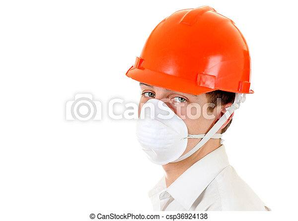 Young Man in Hard Hat - csp36924138