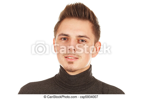 young man on a white background - csp5934007