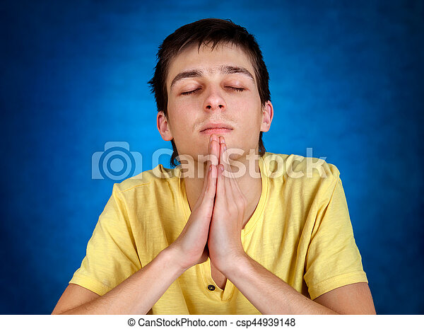 Young Man praying - csp44939148