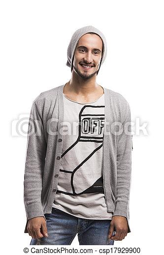 Young man smiling - csp17929900