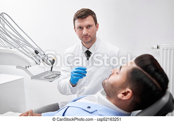 young male dentist