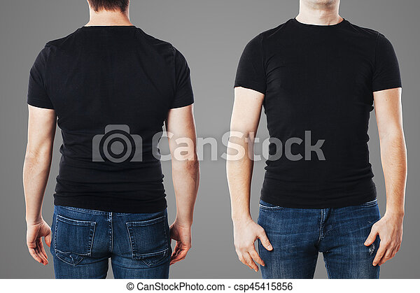 Young Man With Blank TShirt Template Stock Images  Search Stock