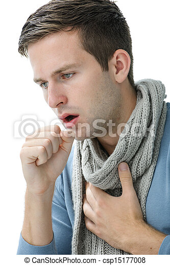 young manl having a cold - csp15177008