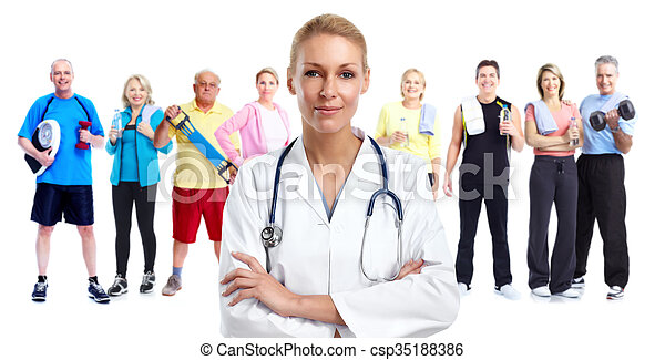 Young medical doctor woman. - csp35188386