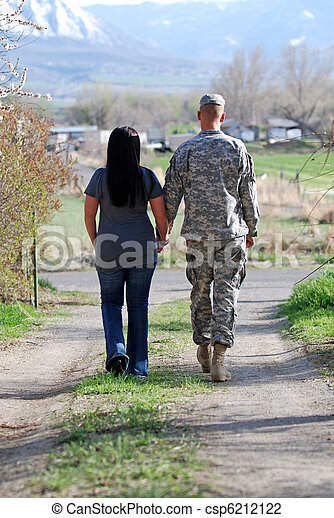 Young Military Couple - csp6212122