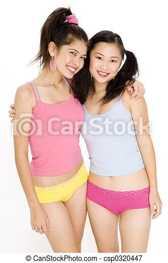Tiny asian ass girls