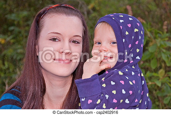 Young Mother And Daughter Csp2402916