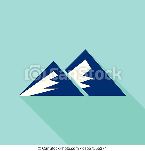 Young mountain icon, flat style - csp57555374