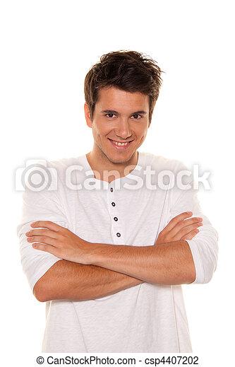 Young, nice man, friendly smile. Portrait - csp4407202