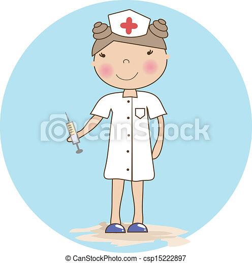 young nurse - csp15222897