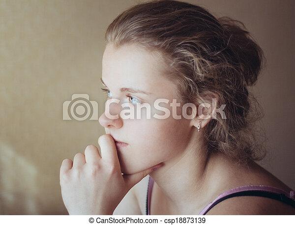 Young Pensive Teen Girl - csp18873139