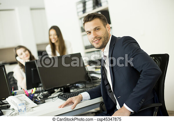 Young people in the modern office - csp45347875