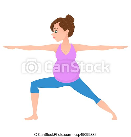 young pregnancy woman meditation in yoga poses young