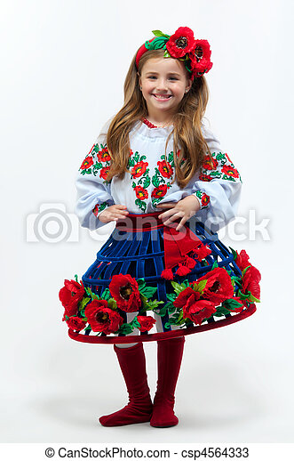 Stock Photos of Young pretty girl in a ukrainian national costume ...