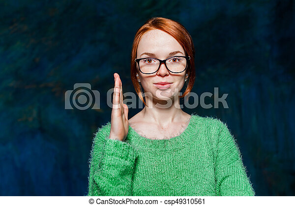 Apologise, but, redhead girl with glasses