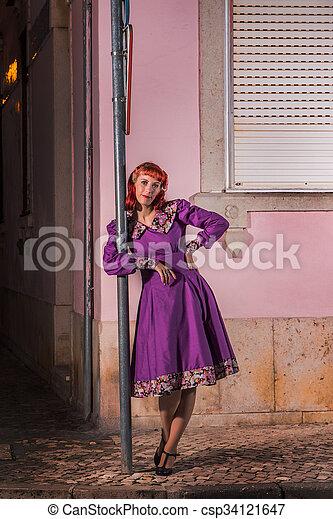 Retro vintage redhead apologise, but