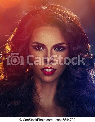 Young sexy brunette woman portrait - csp48544799