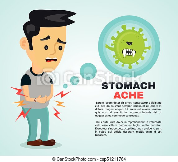 young sick man having stomach ache food poisoning stomach problems abdominal pain vector flat cartoon character https www canstockphoto com young sick man having stomach ache food 51211764 html