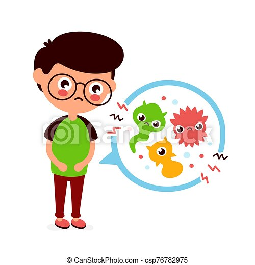 young sick man having stomach ache food poisoning stomach problems abdominal pain vector flat cartoon character https www canstockphoto com young sick man having stomach ache 76782975 html