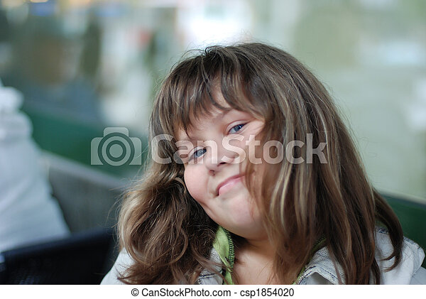 young smiling girl portrait - csp1854020