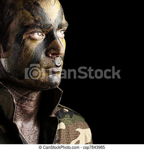 young soldier face - csp7843985