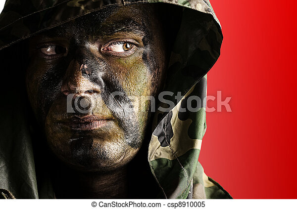 young soldier face - csp8910005