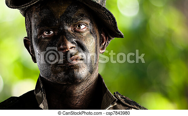 young soldier face - csp7843980