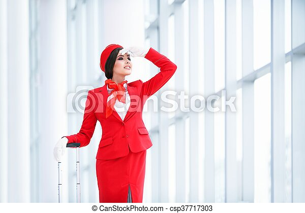 Young stewardess - csp37717303