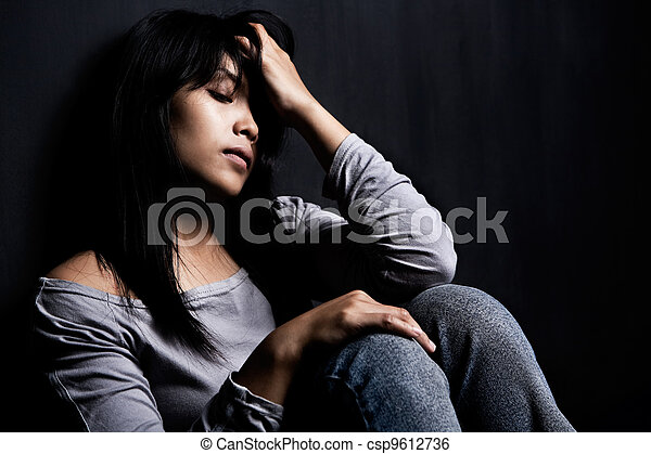 Young stress woman - csp9612736