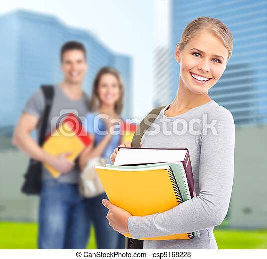 Young student woman. - csp9168228