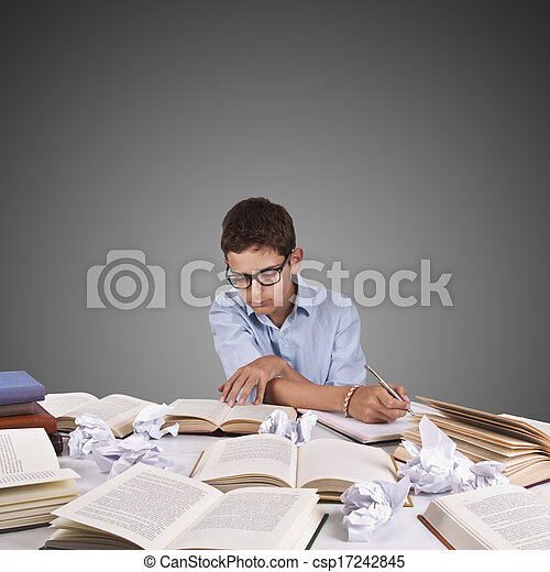 young studying - csp17242845