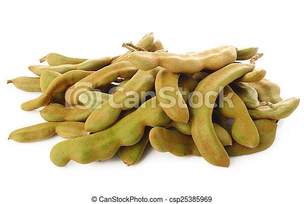 young tamarind on white - csp25385969