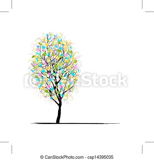 Young tree for your design - csp14395035