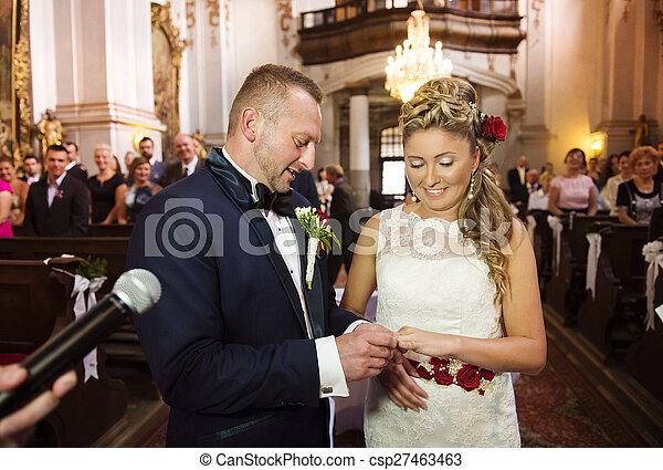 Young wedding couple - csp27463463