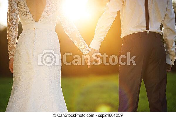 Young wedding couple - csp24601259