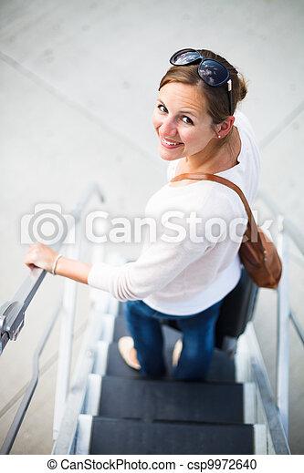 Young woman at an airport  - csp9972640