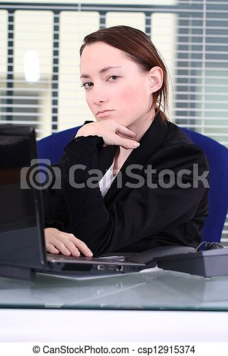 young woman at office - csp12915374